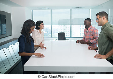 Business executives in boardroom