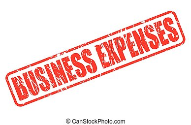 BUSINESS EXPENSES red stamp text