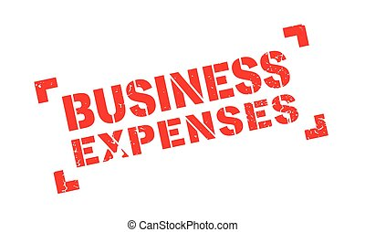 Business Expenses rubber stamp