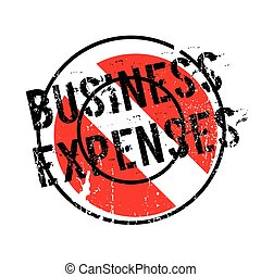 Business Expenses rubber stamp. Grunge design with dust...