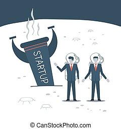 Business experience, entrepreneur crisis - Startup business...