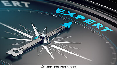 Business Expert, Advice Concept - Compass with needle...