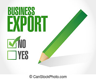 business, exportation, liste, chèque, illustration