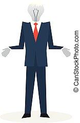Business failure, burned out person - No idea concept, ...