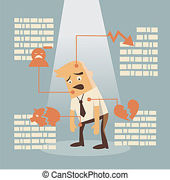 business failure - businessman failure concept