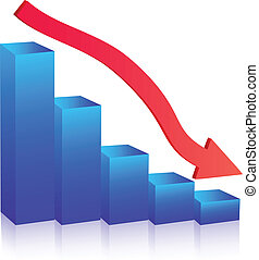 Business Failure graph down arrow