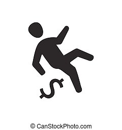 Business Falling Icon