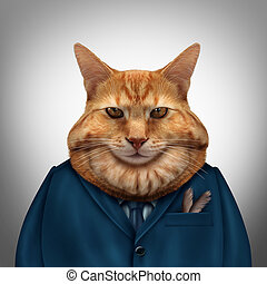 Business Fat Cat - Business fat cat character as a feline...