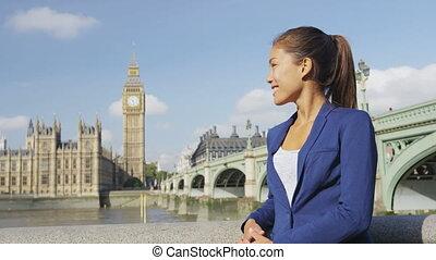 business, -, femme affaires, westminster, portrait femme, ...