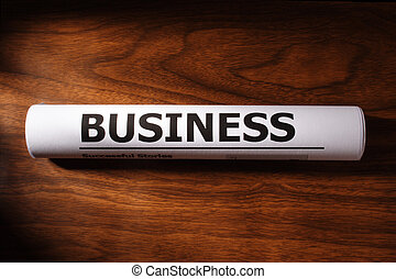 Business File on Table