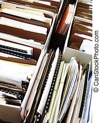 Business Files in Boxes adn Folders - Business files...