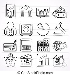 Business, finance and bank icons