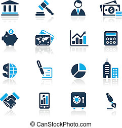 Business & Finance / Azure - Vector icons for your website...