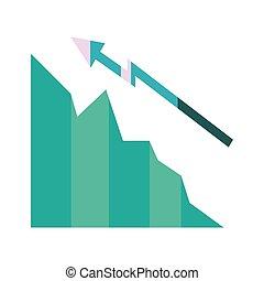 business finance chart arrow