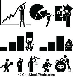 Business Finance Chart Employee - A set of pictograms ...