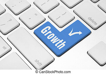 Growth key on the computer keyboard