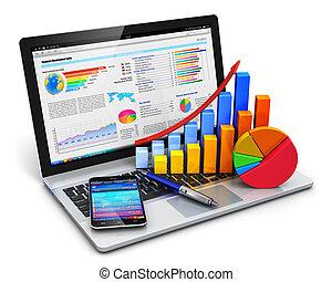 business, finance, et, comptabilité, concept