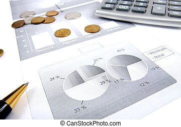 Business finance graphs of a working capitalist
