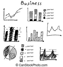 Business finance hand drawn vector elements