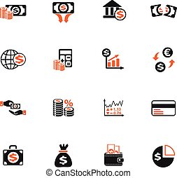 business finance icon set