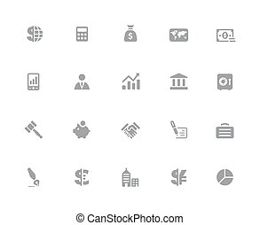 Business & Finance Icons // 32px White Series