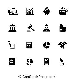 Business & Finance Icons // Black Series