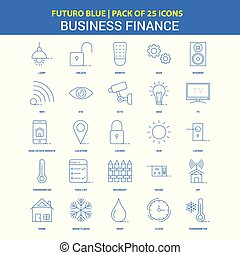 Business Finance  Icons - Futuro Blue 25 Icon pack