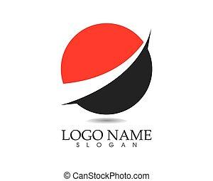 Business finance logo - vector concept illustration
