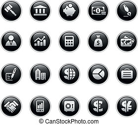 Business & Finance - Vector buttons.