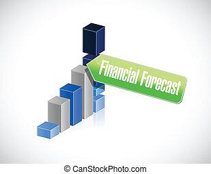 business financial forecast sign illustration