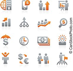 Business Financial -- Graphite - Vector icons for your...