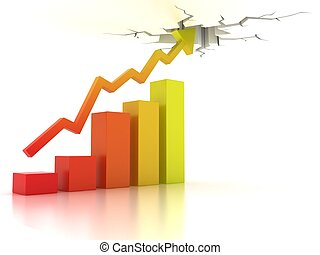 Business financial growth abstract 3d illustration