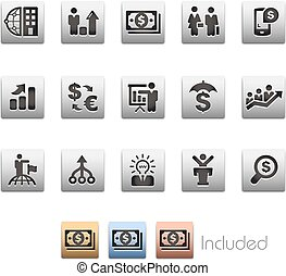 Business Financial Icons - Metalbox Series