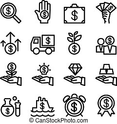 Business Financial Investment icon set