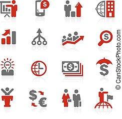 Business Financial // Redico Series - Vector icons for your...