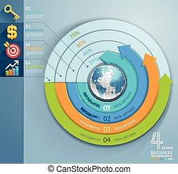 business, flèche, infographics