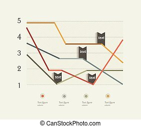 Business flat design chart. - Example of business flat...