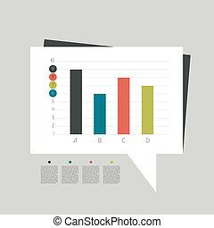 Business flat design graph