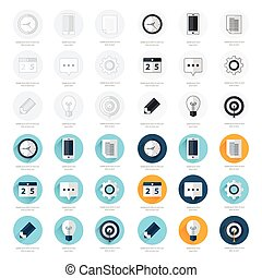 business flat design icons Set 4 Styles.