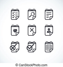 Business Flat icon set.
