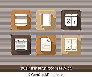 Business flat icons set