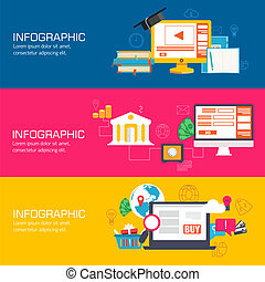 Business flat infographic template with text fields. Vector Illustration design