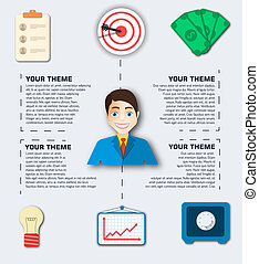 business flat infographic. Vector illustration design