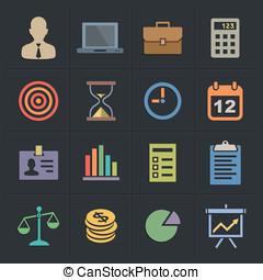 Business Flat Metro Style Icons - Business Icons. Flat Metro...