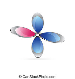 business floral icon design