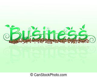Business floral inscription