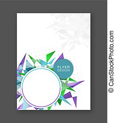 Business flyer abstract background. Corporate banner, brochure or cover design.