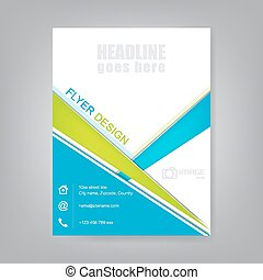 Business flyer template - Business flyer, brochure template...