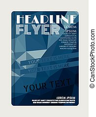 Business flyer template or corporate banner/design for print
