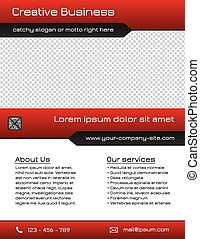 Business flyer template - red - Multi purpose business flyer...
